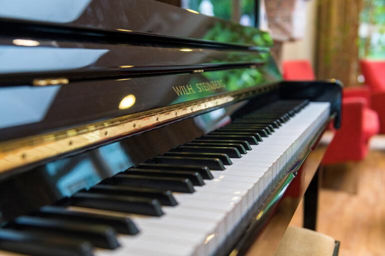 Les notes d'un piano